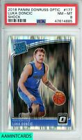 2018 PANINI DONRUSS OPTIC Luka Doncic SHOCK!! #177 ROOKIE RC PSA8