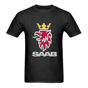 NWT SAAB Logo Classic T-Shirt L-2XL