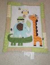 Circo Baby Blanket Quilt Elephant Owl Turtle Bee Giraffe Alligator Raccoon Bear