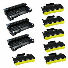 6x TN580 Toner +3x DR520 Drum For Brother MFC-8680DN 8690DW 8890DW HL-5280DW