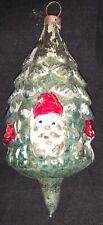 Antique German Glass Ornament - Santa Hiding In Tree