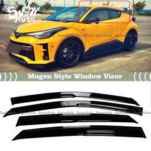 FITS 2017-2021 TOYOTA CHR C-HR JDM 3D MUGEN STYLE WINDOW VISOR RAIN GUARD VENT
