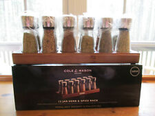 SPICE RACK COLE & MASON ENGLAND 12 JAR RACK WITH JARS HERBS & SPICES NEW!