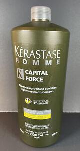 Kerastase Homme Capital Force Daily Treatment Shampoo 34 fl. oz