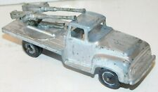 Old TOOTSIETOY of Chicago, Illinois, 1950s Metal, US. Army Silver Truck w/AA Gun