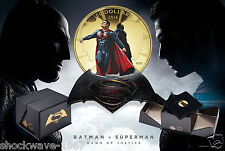 2016 Gold $100 Batman V Superman Dawn of Justice Coin  -  SALE 10%