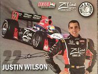 Justin Wilson #22 2010 Izod Indycar  Z-Line Autographed Hero Card