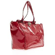 Valentino Garavani Rockstud Red Pantent Leather Tote / Bag