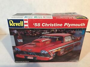 VINTAGE REVELL 1/25 SCALE 1958 CHRISTINE PLYMOUTH MODEL KIT
