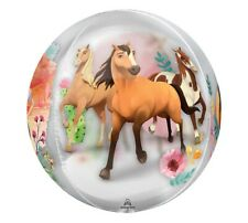 Spirit Riding Free Orbz Foil Balloon , Girls Birthday Party Decoration Supplies