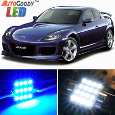 12 x Premium Blue LED Lights Interior Package Kit for 2004-2012 Mazda RX-8 +Tool