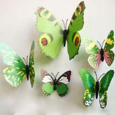 Adesivi e stancil da parete verde 3D