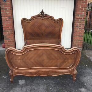 French Rococo Mahogany Bed