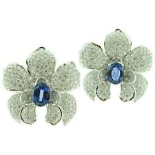 Extraordinary Orchid Sculptural Shape, And Overflowing Glamor 6.7CTW CZ Earrings