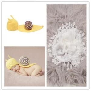 Lace Crochet Hats Wrap Blanket Photo Props Shoot Background for Infant Baby New