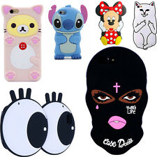 3D Cartoon Mask Soft Silicone Phone Case For iPhone 5 6 7 Plus Samsung S7 J7 S8