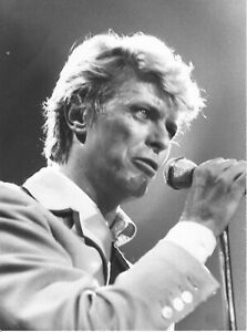 Photographie de concert de David Bowie—Tirage argentique N&B—Années 80/90