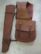 Used Tack Saddle Bags Gun scabbard oiled rough out Western gift hunter hunting