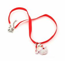 Zest Father Christmas Santa Saint Nick Ribbon Necklace Red