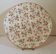 DORSET CHEERY CHINTZ FOR ERPHILA CHINA GERMANY CHOP PLATE / CAKE SERVING PLATE