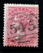 Gb Victoria Fine Use Sg66a 4d Red 545 duplex mark as scan