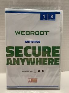 Webroot SecureAnywhere Antivirus Software 2021 for 3 Devices - PC/Mac