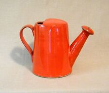 Vintage Deep Orange Ceramic Italian Watering Pitcher