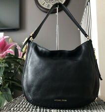Beautiful MICHAEL KORS Black Pebbled Leather Hobo Shoulder Bag Handbag