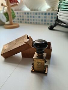 Vintage All Square Number One Brass Date Stamp In Original Box.