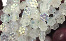 18 Crystal AB Czech Glass Flower Beads 8MM