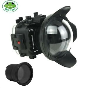 """Seafrogs 130ft Underwater Camera Housing for Sony A7R III A7 III w/ 6"""" Dome Port"""