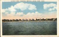 Sound View CT Hawk's Nest Homes c1920 Postcard