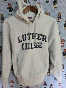 Vintage Sweatshirt Champion Reverse Weave size m Luther college Iowa grey