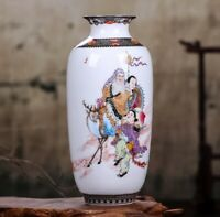 Jingdezhen Ceramic Vase Flowers Chinese Style Porcelain Antique Reproduction