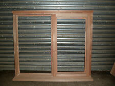 Brand New Unfinished Unglazed Hardwood Window 1195mm x 895mm 1 x Side Opener RHH