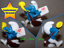 Postman Smurf with Love Letter, Smurf 20031 Peyo W.Germany a5, 2 CM