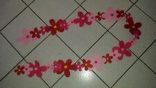 xtx        über 2 Meter lange Filzgirlande Girlande Blumen pink rot rosa, NEU