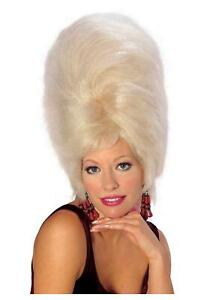 Retro 60's Really Big Hair Beehive Wig Blonde