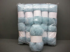 Mohair Wool Yarn 10 X 50g Balls Pale Blue 78 Mohair Double Knitting