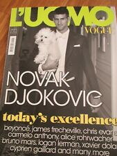 L`UOMO VOGUE 7/2011 Novak Djokovic BEYONCE Chris Evans BRUNO MARS Bruce Weber