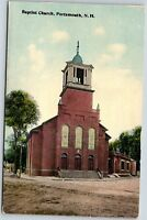 NH Postcard Baptist Church Portsmouth New Hampshire Vintage A04