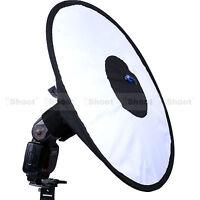 44cm Easy-fold Round Flash Softbox Diffuser Reflector for Nikon Metz Canon Sony