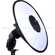 44cm Easy-fold Round Flash Softbox Diffuser Reflector for Nikon Metz Speedlight