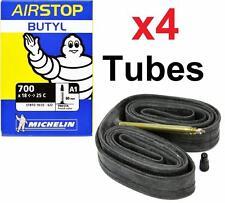 (4) Four Michelin Airstop 700x18-23-25 XL 80mm Presta Valve Road Bike Tubes 700c