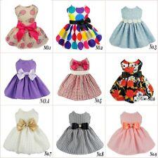 Fitwarm Pretty Dog Party Dress Wedding Dog Clothes Shirt Cat Apparel XXS to L