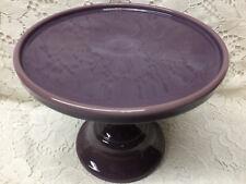 Purple Milk Glass cake serving stand plate platter pedestal raised tray cupcake