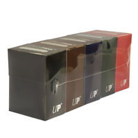 (5-Pack) Ultra Pro Deck Box Multi DARK Colors Bundle Green/White/Red/Blue/Black