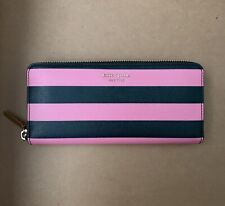Authentic Kate Spade Sylvia Stripe Slim Continental Zip Around Wallet New