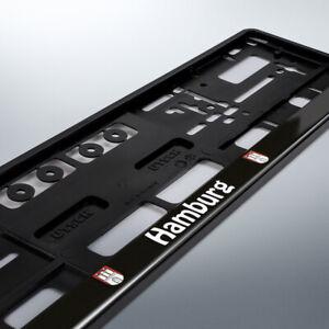 1 Kennzeichenhalter | HAMBURG | schwarz | Bundesland | 520 x 110 | DHL-Versand