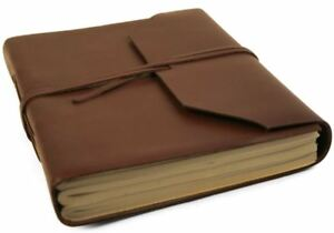 Indra Leather Journal Tan, A5 Plain Pages - Handmade by Life Arts